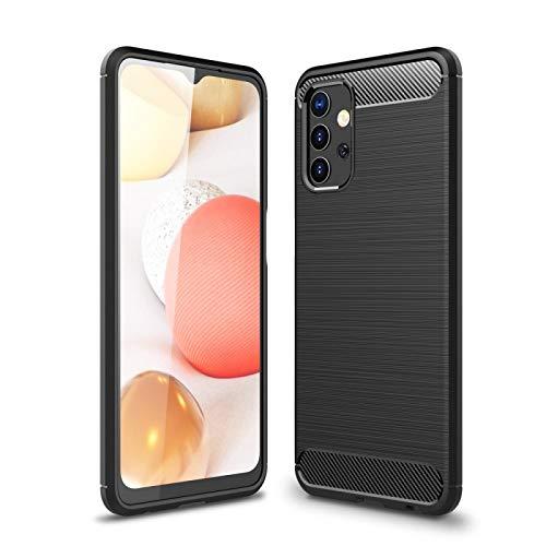 COPHONE Hülle kompatibel Samsung GALAXY A32 , Schwarz Silikon Handyhülle für GALAXY A32 Hülle Karbon Optik Schutzhülle