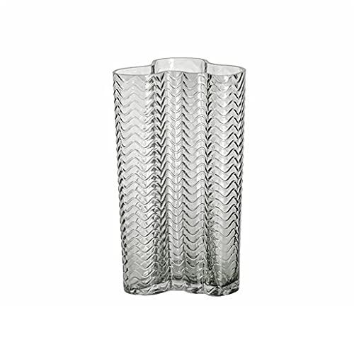 LICHUAN Jarrón creativo nórdico de cristal transparente para encimera, para decoración de...