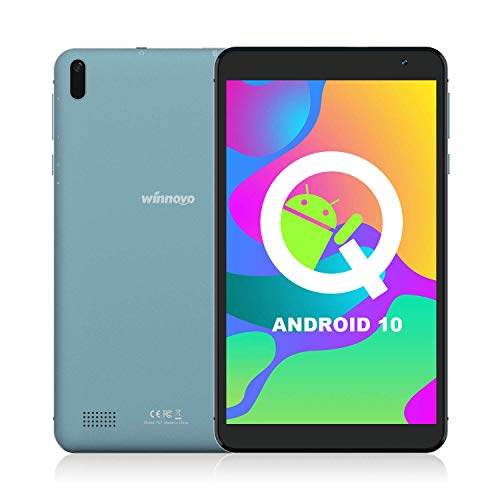 Tablet 7-inch Android 10.0 WiFi – Winnovo TS7 Tablets 32GB Storage Quad-Core Processer HD IPS Display 8MP Camera GPS FM Bluetooth Google Certification (Black)