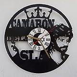 Reloj de Camarón de La Isla - Realizado sobre Antiguos Discos de vinilos.