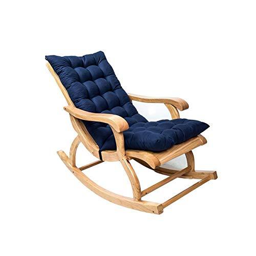Cojín para silla mecedora, cojín para silla de jardín con respaldo bajo, cojín para silla de jardín, excluidas las sillas