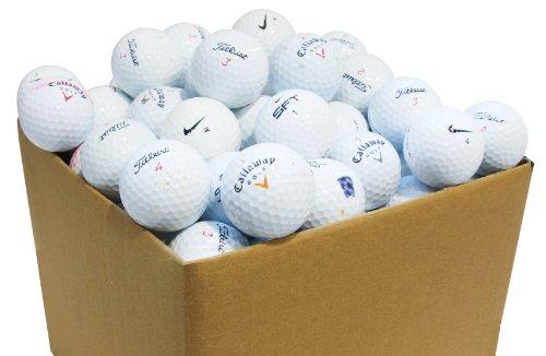Second Chance 100-PRAC-BOX - Lote de 100 Bolas de Golf recuperadas de Lagos de Varias Marcas Clase B