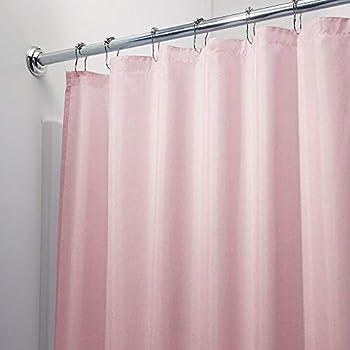 Vinyl Shower Curtain Liner with Rustproof Metal Grommets for Bathroom Showers and Bathtubs – Waterproof Shower Liner – 70 x 72 Pink