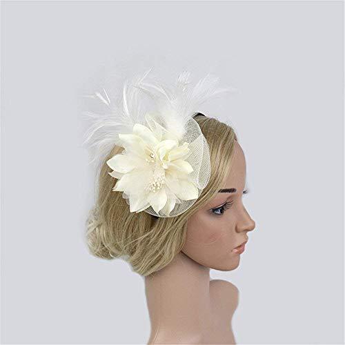 Diadema de flores para mujeres Bailarina de novia elegante for mujer Tocado de flor Flor Cocktail Tea Party Boda Pinza de pelo Bailarina de flamenco flor de corona para mujeres, corona de bodas para