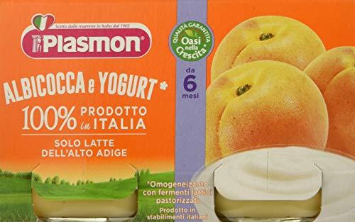 Plasmon Omogeneizzato Albicocca e Yogurt, 2 x 120g
