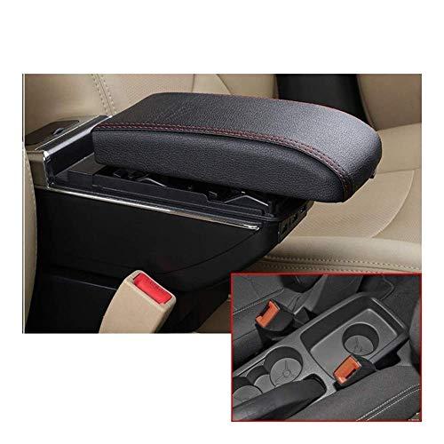 XYJCY Console Centrale per Bracciolo Auto A Doppio Strato con 7 Porte USB LED Integrato per Ford Fiesta 3 Mk7 2009-2013 2014 2015 2016 2017 Bracciolo per Auto (Colore: Grigio)