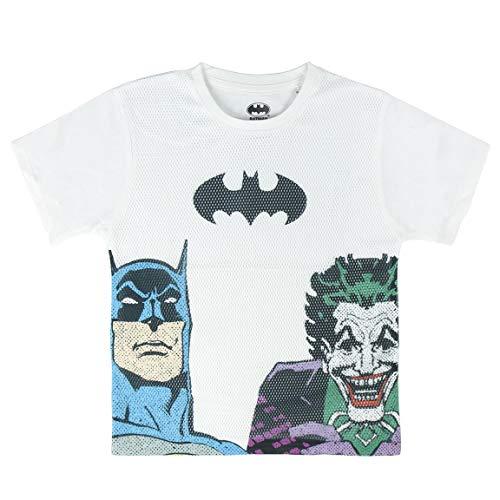 Cerdá Camiseta Manga Corta Premium Batman, Blanco (Blanco, 6 para Niños
