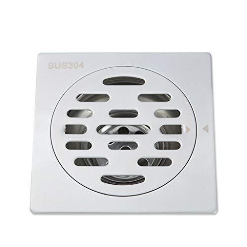 ZTHC douche, vierkant, met afneembaar deksel, roestvrij staal, rooster, veelzijdig inzetbaar, geschikt voor keuken badkamer