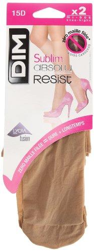 Dim Sublim Absolu Resist Paires de Mi-Bas Transparent, Chaussettes Femme, 15 Den Beige (Beige Nature), FR: Taille Unique (Taille fabricant: 35/41), Lot de 2