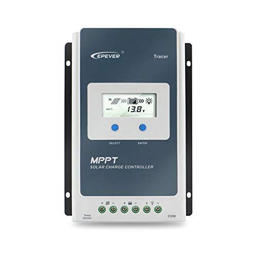 EPEVER® 40A MPPT Controlador de Carga Solar Identificación Automática de 12V/24V con Pantalla LCD...