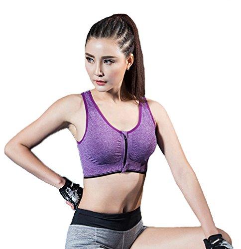 ZAIQUN Yoga Sujetadores de los Mujeres Chaleco de Deportivo para Entrenamiento Fitness