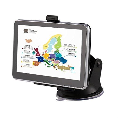 Tsing Navigationsgerät Europe Traffic Navigationssystem inkl. Free Lifetime Maps, 4G 12,7 cm (5 Zoll) Display, Europa 45 Länder