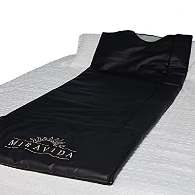 MIRAVIDA Infrared Sauna Blanket - Perfect Weight Loss, Detox, Joint Pain, and Increased Blood Circulation - Sauna Blanket with 3 Adjustable Far Infrared Heat Zones and 25 Plastic Body Wraps