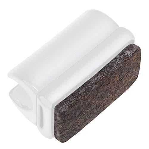 Adsamm® / 16 x Klemmschalengleiter mit Filz/ø für runde Rohre 10-11 mm/Weiß/rund/Möbelgleiter mit austauschbarer Filzfläche für Freischwinger in Premium-Qualität