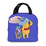 Winnie The Pooh Costume Dress Up Insulated Lunch Bag Waterproof Reusable Lunch Boxes for Women Adult Picnic Work School
