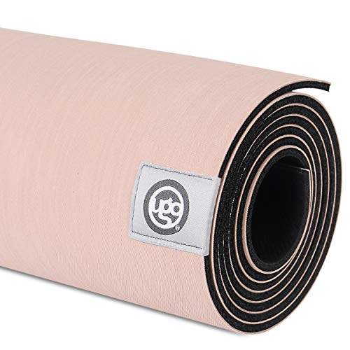 UGO Yoga Mat Pilates and Floor Exercises Fitness Eco Friendly and Natural Rubber Non-Slip Travel Mat(5MM) (Ivory Pink)