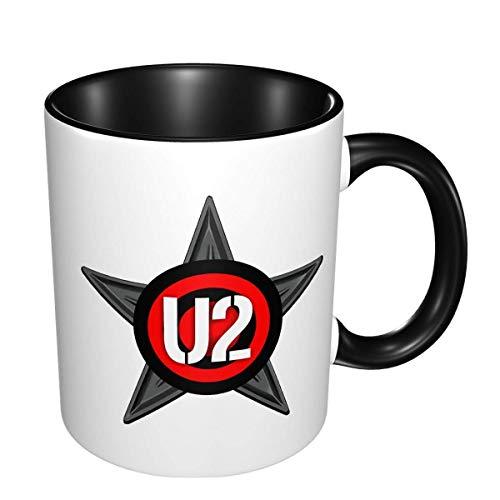 N\A Taza de té Divertida del café de la Taza de café de la Banda U2 Conveniente para el hogar, la Oficina, Varios restaurantes