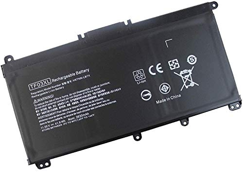 TF03XL Battery for HP Pavilion 15-CC 15-CD Series 15-cc055od 15-cd040wm 15-cc152od 15-cc060wm 17-ar050wm; 920046-421 920070-855 HSTNN-LB7J HSTNN-LB7L[11.55V 41.9WH]