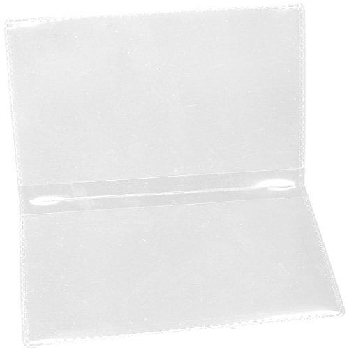 StoreSMART - Clear Folding Business Card Holders - 10 Pack - Polypropylene Plastic (RPP2915C-10)