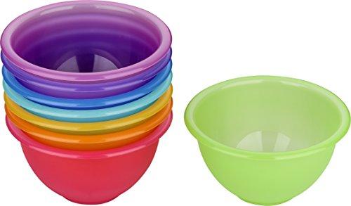 Kigima Dessert Salat Dip Schüssel 8 er Set Rainbow Bunt 13 cm Durchmesser