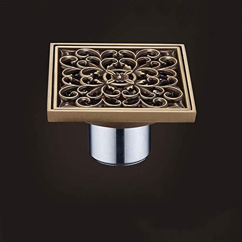 Vloersifon in Europese stijl, bescherming tegen insecten, overloopbescherming, sifon voor vloer, antiek, met grote sifon voor toilet, bleekserij, tuin, buiten (maat: 3,6 cm). 3.6cm