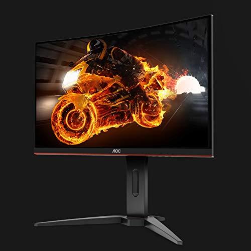 AOC Monitor C24G1- 24' Curved 1500R Full HD, 144Hz, 1Ms, VA, FreeSync Premium, 1920x1080, 250 cd/m, D-SUB, HDMI 2x1.4, Displayport 1x1.2