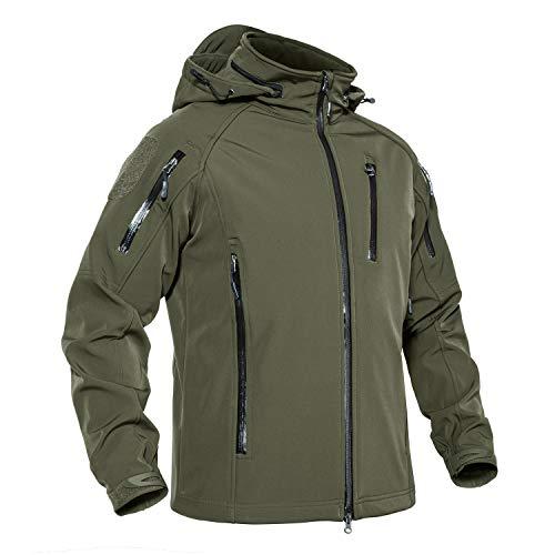 KEFITEVD アウトドアウェア メンズ サバゲー ジャケット タクティカル 作業着 防寒ジャンパー トレッキング od グリーン M