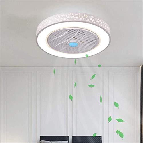 Ventilador De Techo Silencioso Con Iluminación LED Lámpara De Techo Con Ventilador Con APP Control Y Mando A Distancia, Regulable Araña De Ventilador Para Dormitorios Sala Guardería,Squares
