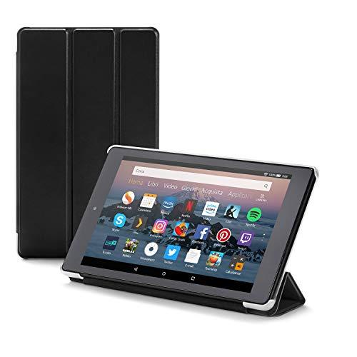 Nupro Custodia pieghevole con supporto integrato per tablet Fire HD 8, colore: nero