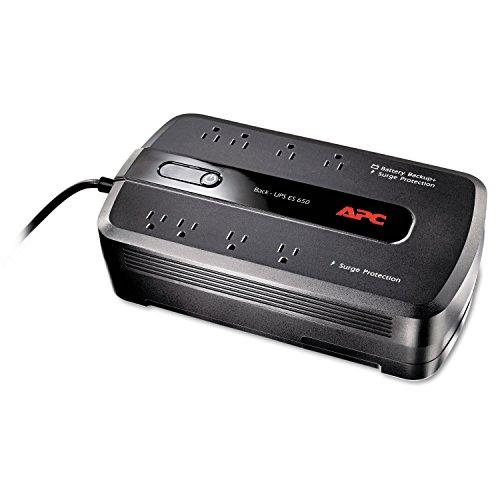 APC BE650G1 BE650G1 Back-UPS ES 650 Battery Backup System, 8 Outlets,...