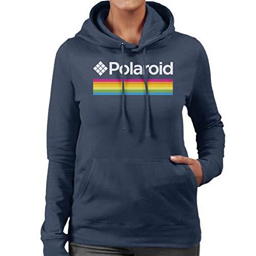 Polaroid Spectrum Logo Women's Hooded Sweatshirt Navy Blue