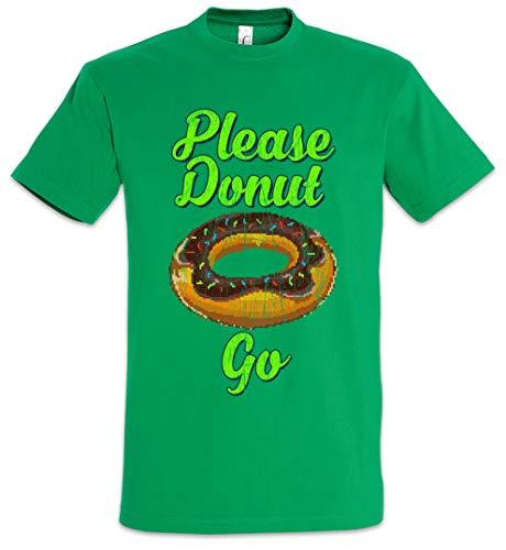 Urban Backwoods Please Donut Go Camiseta De Hombre T-Shirt Verde Talla S
