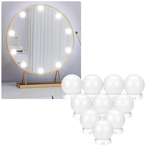 Mitening Hollywood sminkspegel lampor, USB-kabel sminklampor med 10 dimbara glödlampor kit för sminkbord [Energiklass A]
