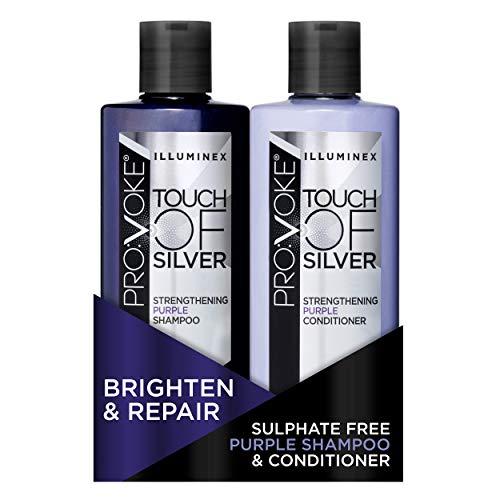 PRO:VOKE Illuminex Touch of Silver Strengthening Purple Shampoo and...