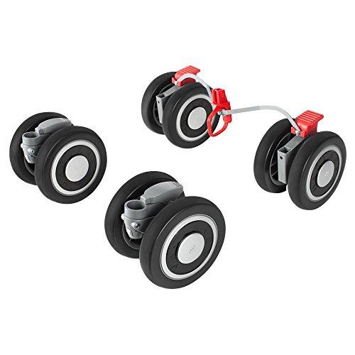 Maclaren Techno XT Front and Rear Wheels, Black/Silver