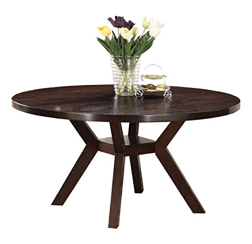 Acme Drake Espresso Round Dining Table, 48-Inch