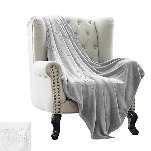 BelleAckerman - Manta para sofá, diseño de mapa de los Estados Unidos, multicolor y reversible, poliéster, color 12, 50'x70' Inch