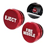 ALAMSCN Aluminum EJECT FIRE MISSILE Button Car Cigarette Lighter Plug Cover Fits Most Automotive Vehicles Boats with Standard 12 Volt Power Source (EJECT+FIRE MISSILE)