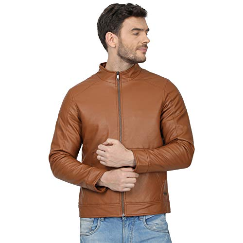 Monte Carlo Men's Regular Fit Warm Up Jacket (220050224-3_Orange_40)