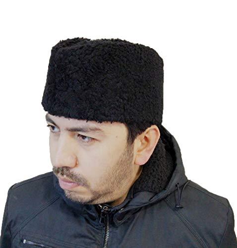 Derisitesi Sombrero turco - Sombrero de cuero hecho a mano - Sombrero de piel de oveja - Sombrero de Anatolian