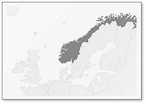 Mapa de Europa con mapa de Noruega imán para nevera