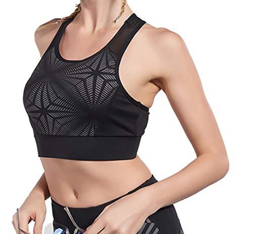 Sujetador súper cómodo, Sujetadores deportivos para mujer Almohadillas extraíbles Sujetadores grandes para dormir en las niñas En Yoga Bralette Ocio Estiramiento Crop Tops Chaleco para mujeres