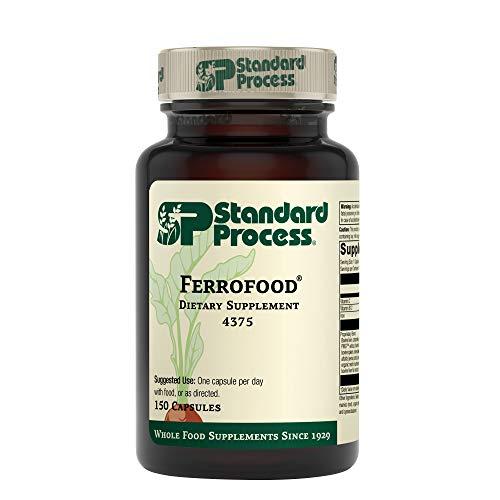 Standard Process Ferrofood - Whole Food Antioxidant, Healthy Blood and Hemoglobin with Cyanocobalamin, Acerola, Shiitake, Rice Bran, Organic Carrot, Alfalfa, Spanish Moss - 150 Capsules