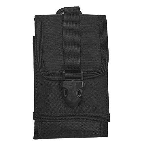 Homyl Sac Téléphone Portable Poche Tactique Sports en Plein Air Multi-Fonction - Noir, comme décrit