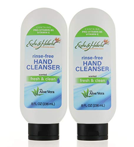 Pack 2, Rinse Free Hand Wash, Hand Cleanser with Aloe Vera, Fresh...