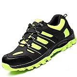 FJUAN Zapatos de Trabajo Zapatos con Punta de Acero S3 Resistente al Deslizamiento Zapatos de Seguridad señoras de los Hombres Respirables de los Zapatos de Trekking,44