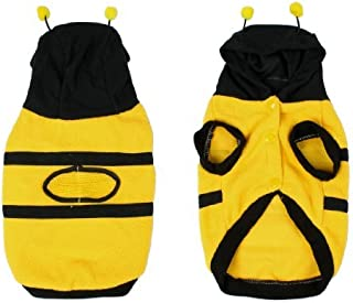 SODIAL(R) Dress up Costume Bumblebee Bee Yorkie Doogie Dog Coat Clothes Pet Apparel S