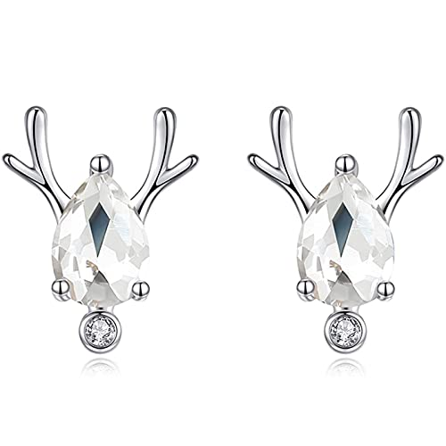 XinLuMing Pendientes de Perlas de Agua Dulce Pendientes de Alces Pendientes de Plata esterlina Mujer Pendientes Pendientes Pendientes Damas Pendientes de Plata esterlina (Color : B)