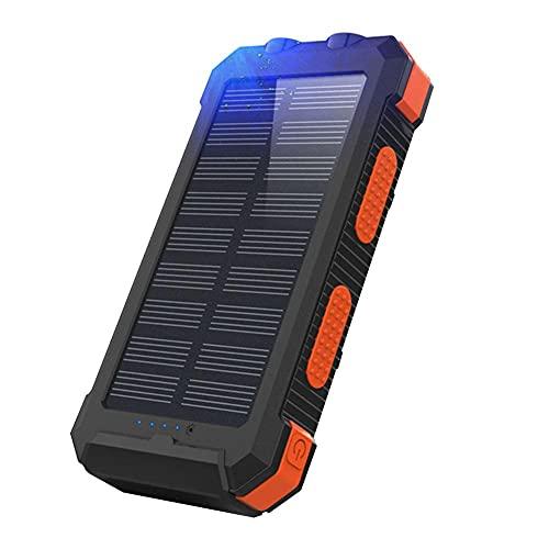Tuimiyisou Cargador Solar, el Banco de Potencia Impermeable al Aire Libre portátil 20000mAh, brújula del teléfono móvil SolarEnergy, Impermeable móvil Banco de la energía