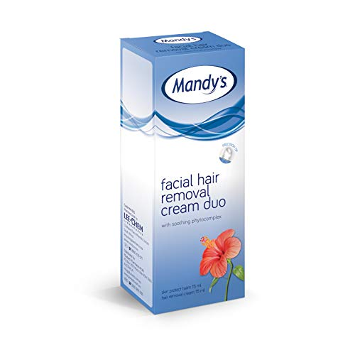 Mandys - Crema facial para depilacion (15 ml)